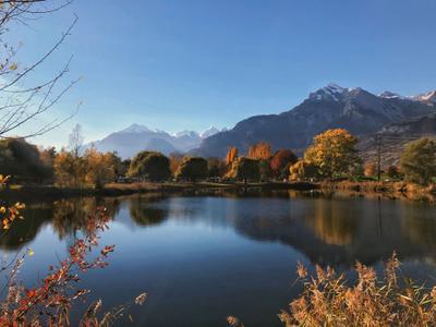Горы Горы озеро вода пейзаж природа отражение деревья
