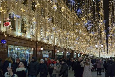 Москва новогодняя (9) Новый год Рождество Москва город