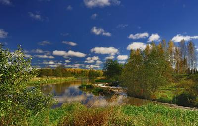 """""""Есть в осени первоначальной Короткая, но дивная пора..."""" октябрь порог река Керава Хельсинки Финляндия Keravajoki Helsinki Finland"""