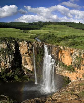 Берлинский водопад ЮАР, Берлинский, водопад, пейзаж, панорама, африка