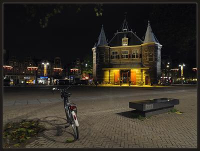 В Амстердаме все спокойно Амстердам ночь велосипед