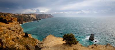 Фиолент. фиолент ветер море скалы берег крым небо облака пейзаж