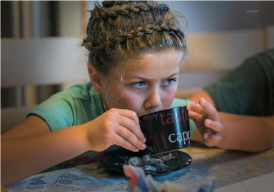 ***За чашкой чая! Правнучка Портрет чаепитие