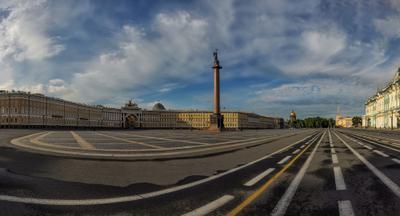 Питерская открытка Дворцовая площадь
