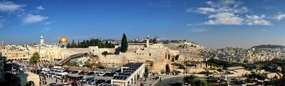 Вечный город иерусалим, пангорама, стена плача, израиль
