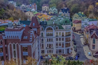 Краски города Киев город дома архитектура