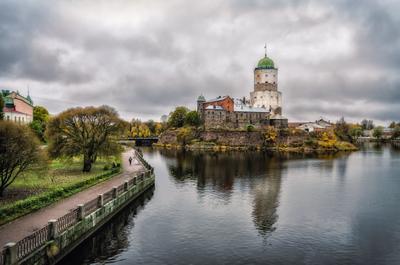 Выборг выборг осень замок отражение небо
