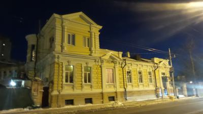 Ночь, улица, февраль... февраль Краснодар улица город дорога Екатеринодар дом старый