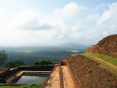 Сигирия пейзаж скала путешествие Сигирия Шри-Ланка