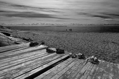 На севере, на пляже... кий пляж песок остров белое море
