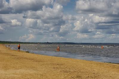 Морская прохлада Море залив свежий ветер облачность