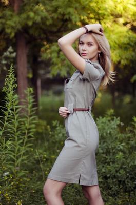 Оля девушка блондинка красотка день лето