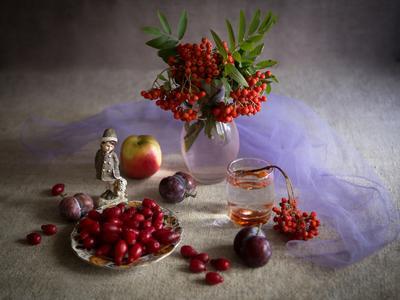 Роняет осень спелый плод.