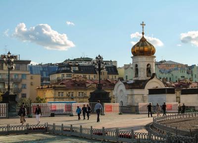 Утренняя Москва Москва июль утро
