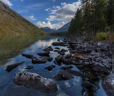 ~~~ Нижнее Мультинское ~~~ Алтай озеро Мультинское Altai lake Multa vakomin