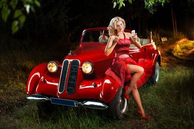 Портреты легенд прошлых лет авто ретро автомобиль реставратор пин-ап