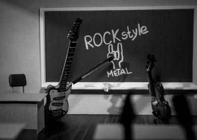 Рок-урок Рок гитара скрипка урок доска