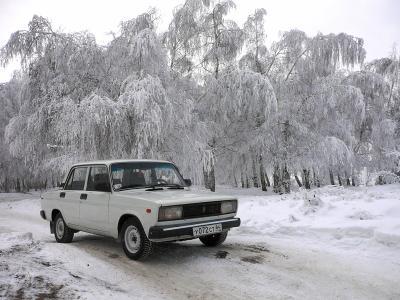 Белое на белом (съемка для журнала Тест & Драйв)  Жигули, Саратов, Зима