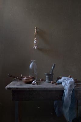 Натюрморт с чесноком still life чеснок