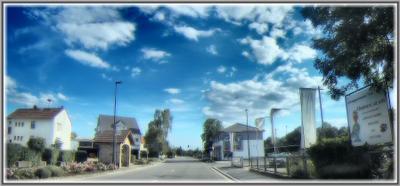 Сельцо в Германии Германия село дорога