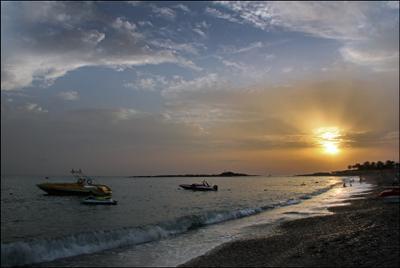 Средиземное море. Закат...** Турция Средиземное море закат