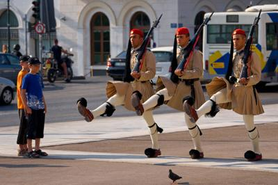 Греческие Эвзоны Греция Эвзоны Смена караула