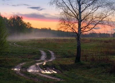 / Утро В Подмосковье / пейзаж весна подмосковье чехов красиво природа восход утро