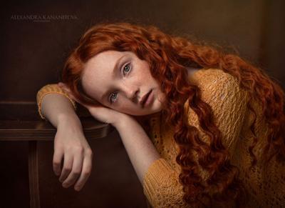 Портрет Портрет рыжик девушка