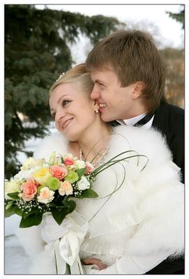 Зимняя нежная!!! невеста, свадьба, жених, мороз.