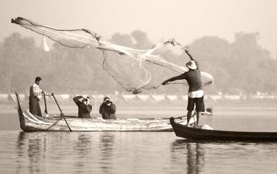 О том как рождаются шедевры или как попасть в...  кадр Мьянма Бирма рыбалка сеть