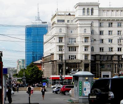 Челябинск. Вид на Кировку улица город Челябинск