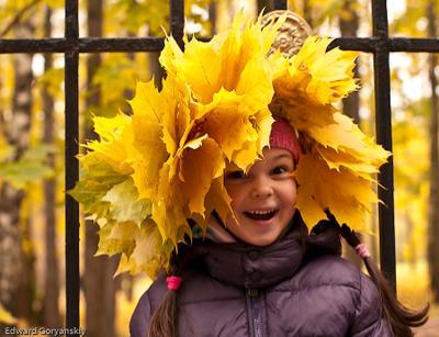 Девочка-Осень Царицино, осень, девочка, кленовый венок