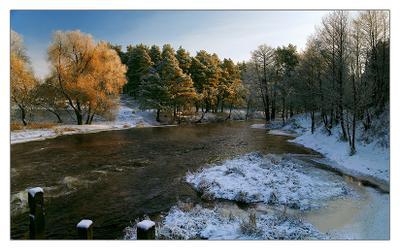 Зимняя река №3 Зима   река   Рождество