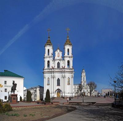 Витебск витебск собор ратуша всадник небо