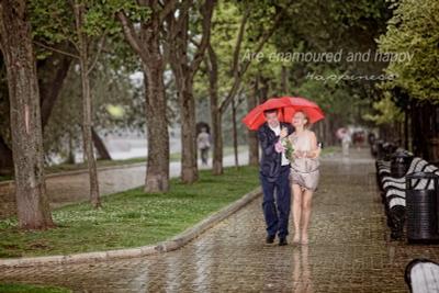 Непогода Свадьба, молодожены, молодые, дождь, счастье