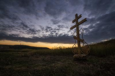 Всё, что осталось от храма... Крым пейзаж архитектура закат