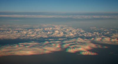 Облака над Синаем облака стерео даль горизонт