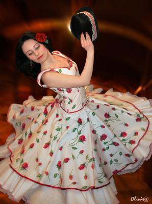 Гарротин девушка, фламенко, танец