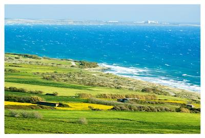 Весенняя палитра Кипр весна море