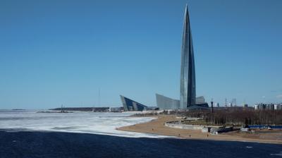 Весна в городе Санкт-Петербург Лахта центр весна