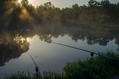 Релаксация... река рыбак