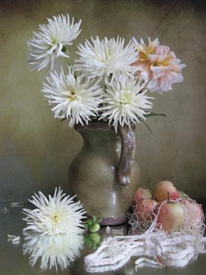 *** цветы букет георгины наталия тихомирова celesta