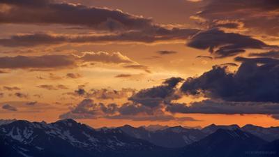 Закат над верховьями Лабы fotopohod.ru фототур Кавказ Уруп Загедан