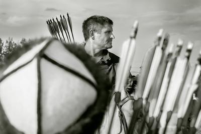 Стрелец Битва при Молодях битва молодинская чб фото черно-белая фотография жанровый портрет стрелец лучник