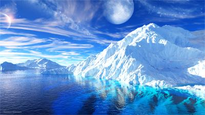 *** 3д айсберг антарктика ледник Ларсена