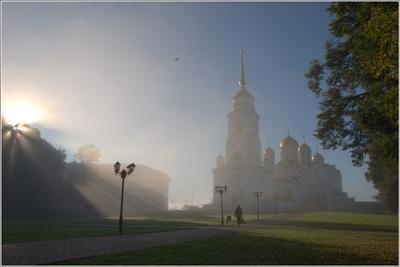 Дорога ... утро туман