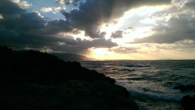Над морем Закат солнце море