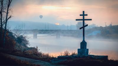 Поклонный крест на р.Исеть, г.Каменск-Уральский