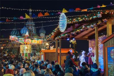 Москва новогодняя (11) Новый год Рождество Москва город