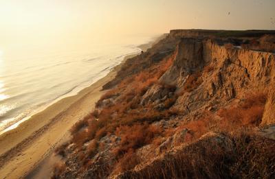 Обрыв Закат черное море обрыв пляж